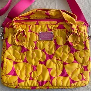 Marc by Marc Jacobs Laptop Bag Yellow & Pink